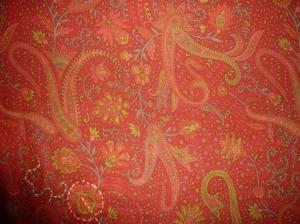 The printed silk fabric